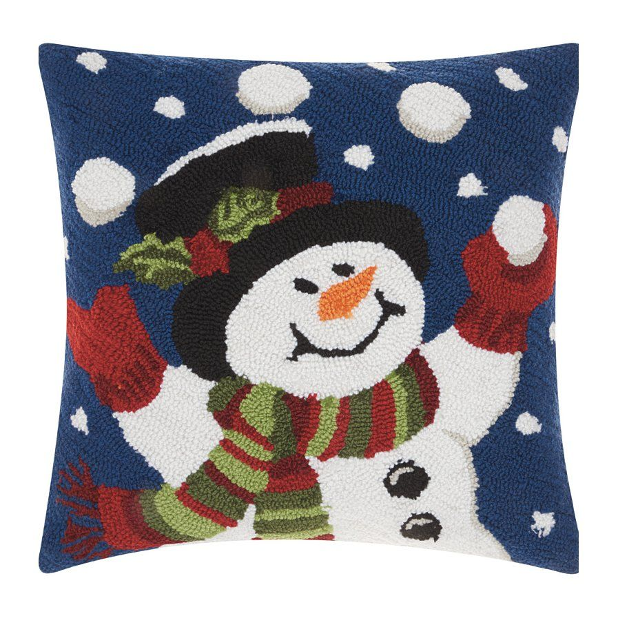 Haggerty Juggling Snowman Throw Pillow With Images Blue Throw Pillows Festive Throw Pillows Square Throw Pillow