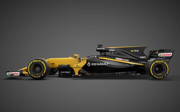 Formula Renault Racing Car Side View Sport