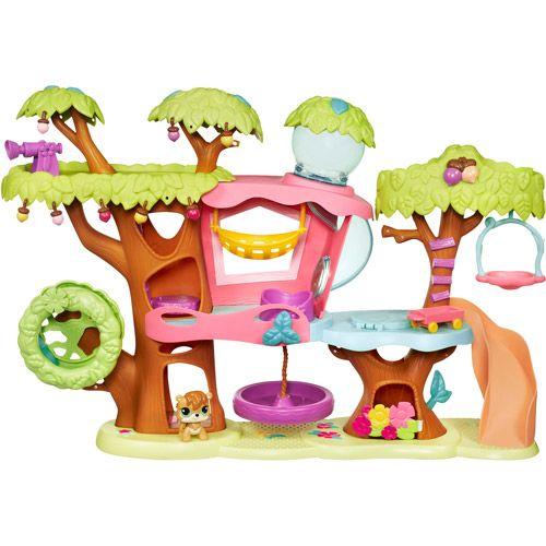 Littlest Pet Shop Treehouse Playset Walmart Com Little Pet Shop Toys Lps Littlest Pet Shop Littlest Pet Shop