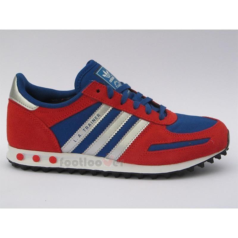 Boys Kids Adidas La Trainer K dark orange casual running shoes sneakers