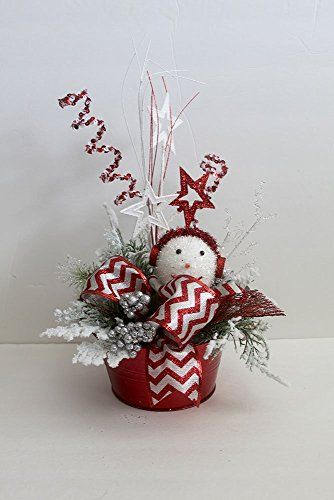 Amazon Com Christmas Table Centerpiece Snowman Holiday Table Decor C With Images Holiday Table Decorations Christmas Table Centerpieces Christmas Centerpieces