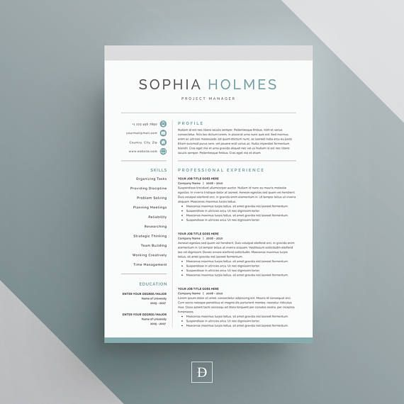 Resume Template  Page Cv Template Cover Letter For Ms  Resume