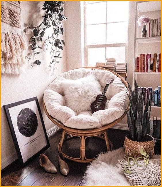 Reading corner, reading corner; Living room decor; Bedroom decors; comfortable ... - Les ...