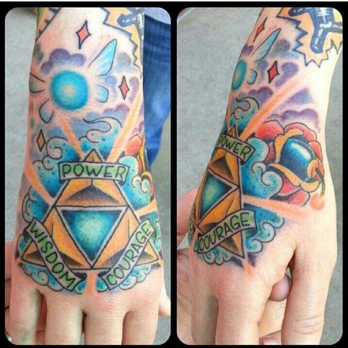 Triforce Nintendo tattoo, Hand tattoos, Tattoos