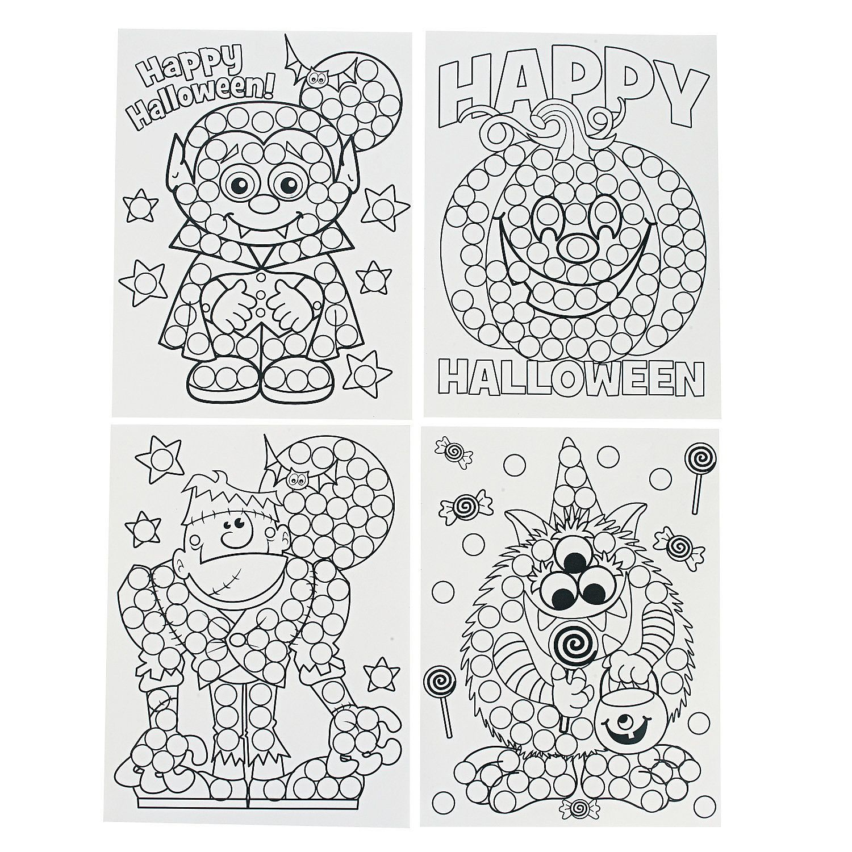 Halloween Dot Activity Sheets