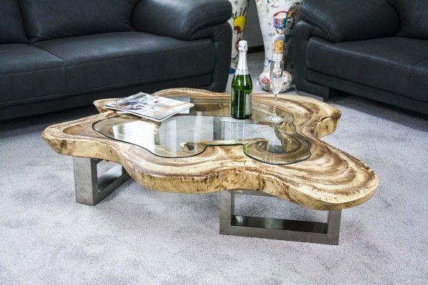 Couchtisch Aus Einer Baumscheibe Mit Glasplatte Der Tischonkel Couchtisch Baumscheibe Couchtisch Holztisch Design