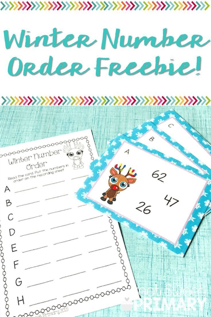 Free winter number order math center | Christmas schooling ideas ...