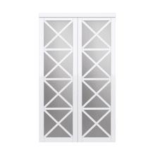 Renin Eu3265pwcle072080 Bright White Urban 72 X 80 French Style 4 Lite Lace Mirror Interior Bypass Sliding Closet Door In 2020 Sliding Closet Doors Closet Doors Wood Sliding Closet Doors