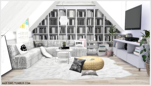 Image Result For Sims 4 Bookshelf Cc