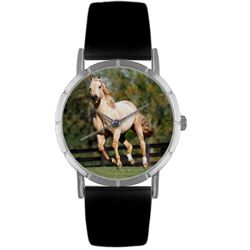 Quarter Horse Black Leather And Silvertone Photo Watch #R0110030 - http://www.artistic-watches.com/2013/01/10/quarter-horse-black-leather-and-silvertone-photo-watch-r0110030/