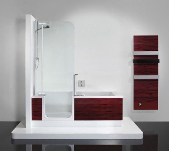 Bathtub And Shower In One Unit With Images Shower Tub Small