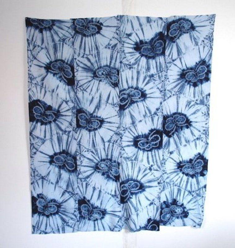 Shibori Tie Dye Japanese Vintage Textile Cotton Futon Cover