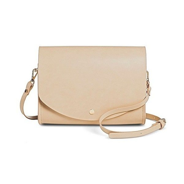 Cesca Women's Structured Crossbody Handbag with Detachable Shoulder... ($27) ❤ liked on Polyvore featuring bags, handbags, shoulder bags, beige nude, handbags purses, beige shoulder bag, crossbody handbags, oversized handbags and handbags crossbody