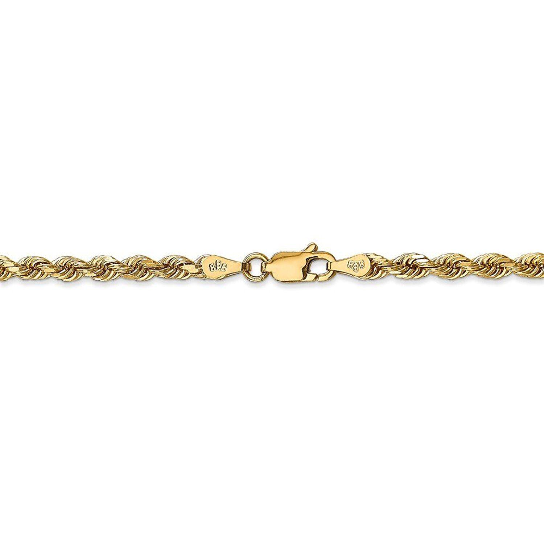 K yellow gold mm diamondcut quadruple rope bracelet anklet