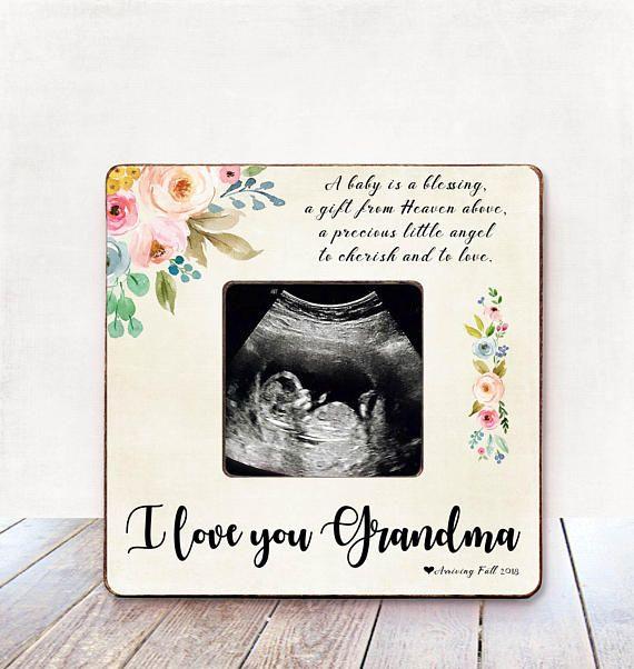 Pregnancy Announcement Grandma Pregnancy Announcement Frame ...