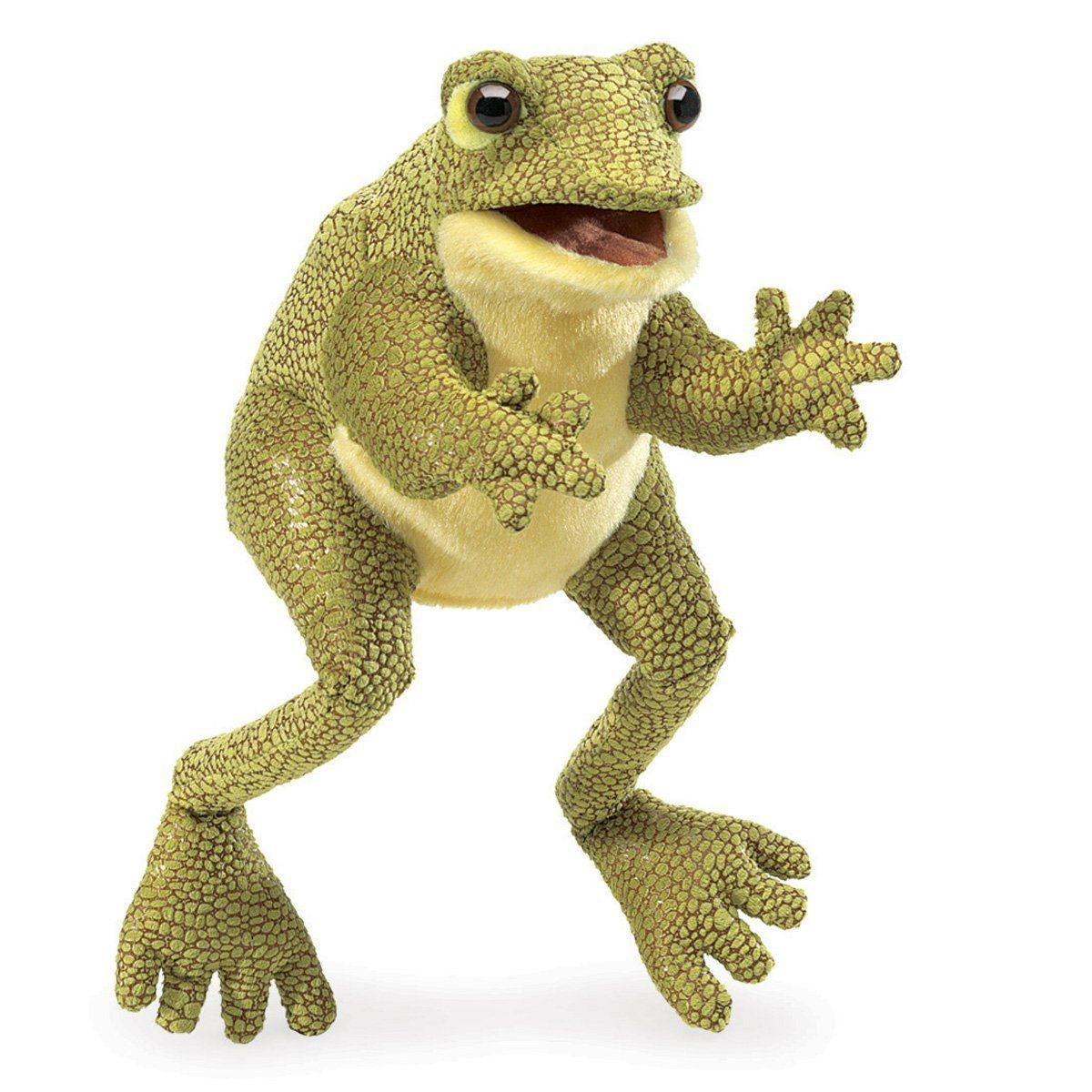 amazon com folkmanis funny frog hand puppet toys u0026 games gifts