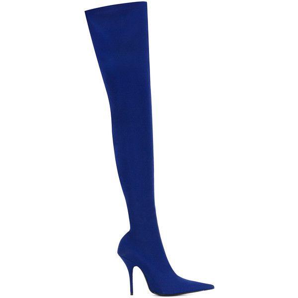 e2c51855eba Balenciaga Knife cuissard crepe boots ($1,395) ❤ liked on Polyvore ...