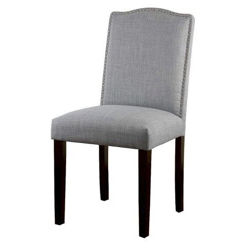 Camelot Nailhead Dining Chair Dove Gray 1 Pack