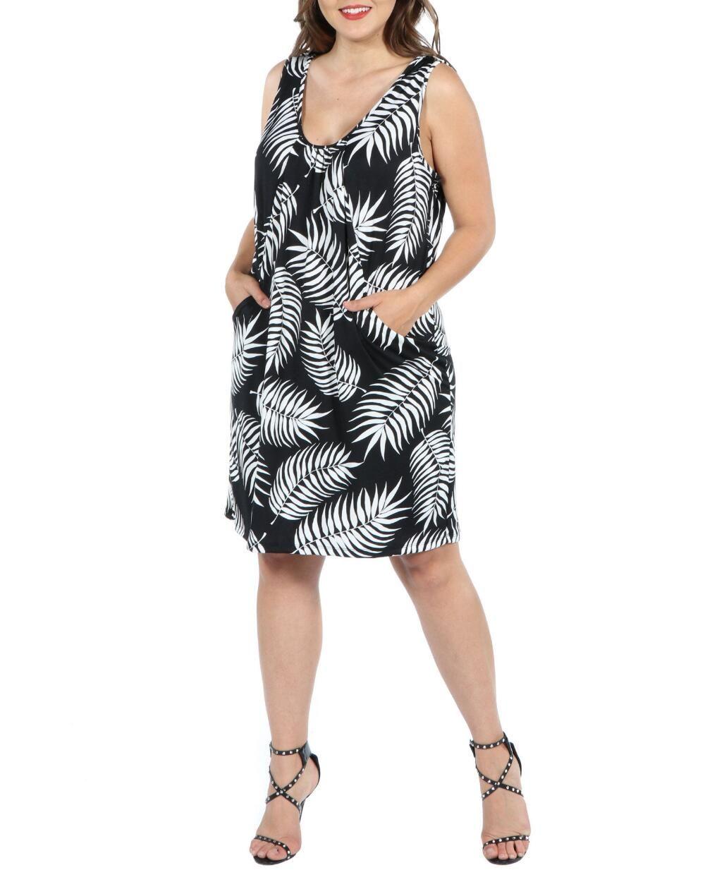 Women S Plus Size Mini Dress With Pockets 24seven Comfort Apparel Brand Stein Mart In 2020 Mini Dress Plus Size Mini Dresses Dresses [ 1250 x 1000 Pixel ]