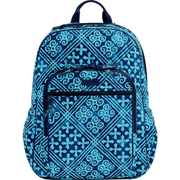 Vera Bradley Campus Tech Backpack Cuban Tiles School Backpacks 108 Liked On Polyvore Featuring Bags Blue Mesh