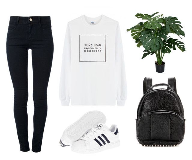 """""""YUNG LEAN"""" by baludna ❤ liked on Polyvore featuring VFiles, STELLA McCARTNEY, adidas and Alexander Wang"""