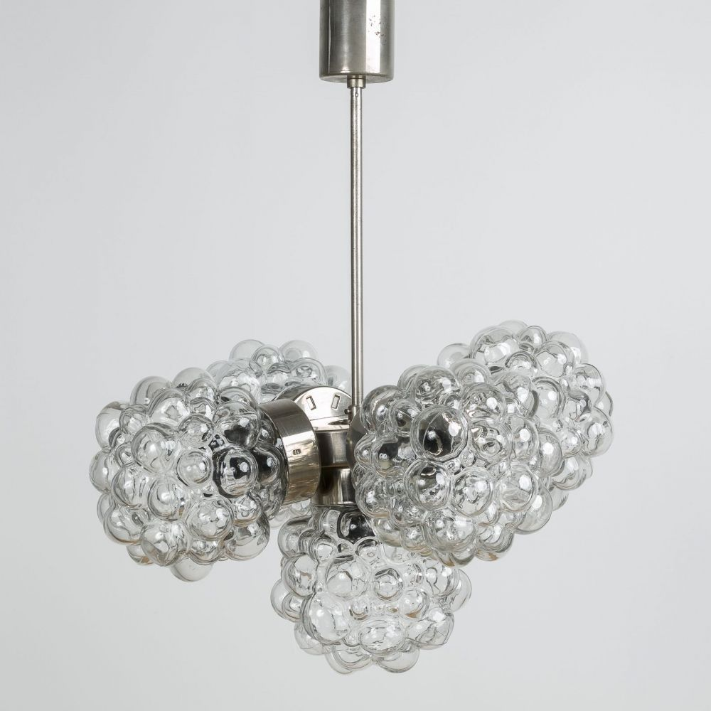 For sale: Bubble glass chandelier by Kamenický Šenov, 1970s #bubblekronleuchter For sale: Bubble glass chandelier by Kamenický Šenov, 1970s #bubblekronleuchter