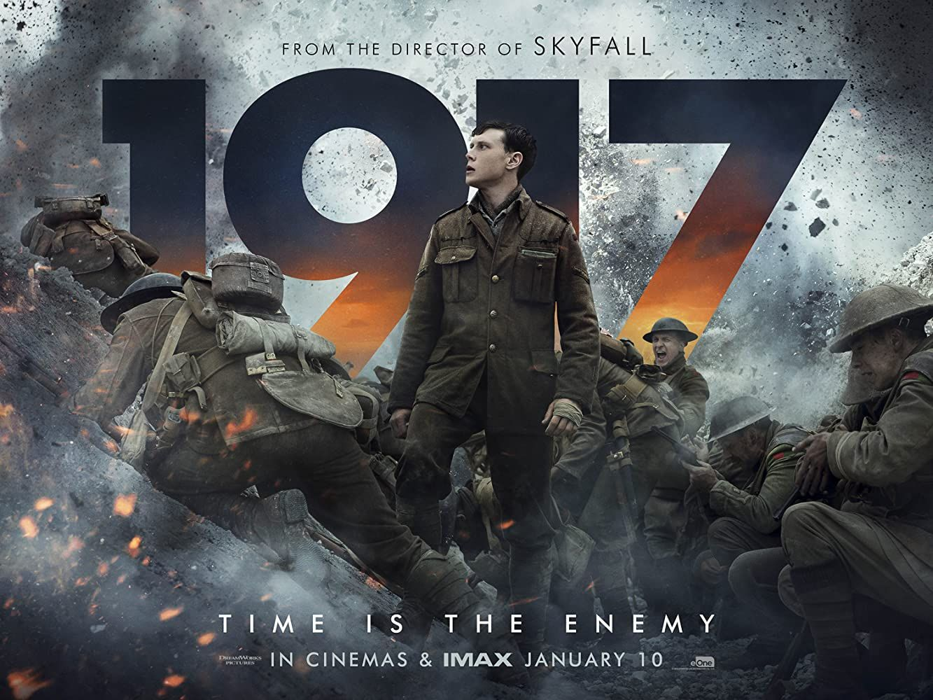 1917 2019 April 6th 1917 As A Regiment Assembles To Wage War Deep In Enemy Territory Two Soldiers Are Assigned New Movie Posters Movie Posters Sam Mendes