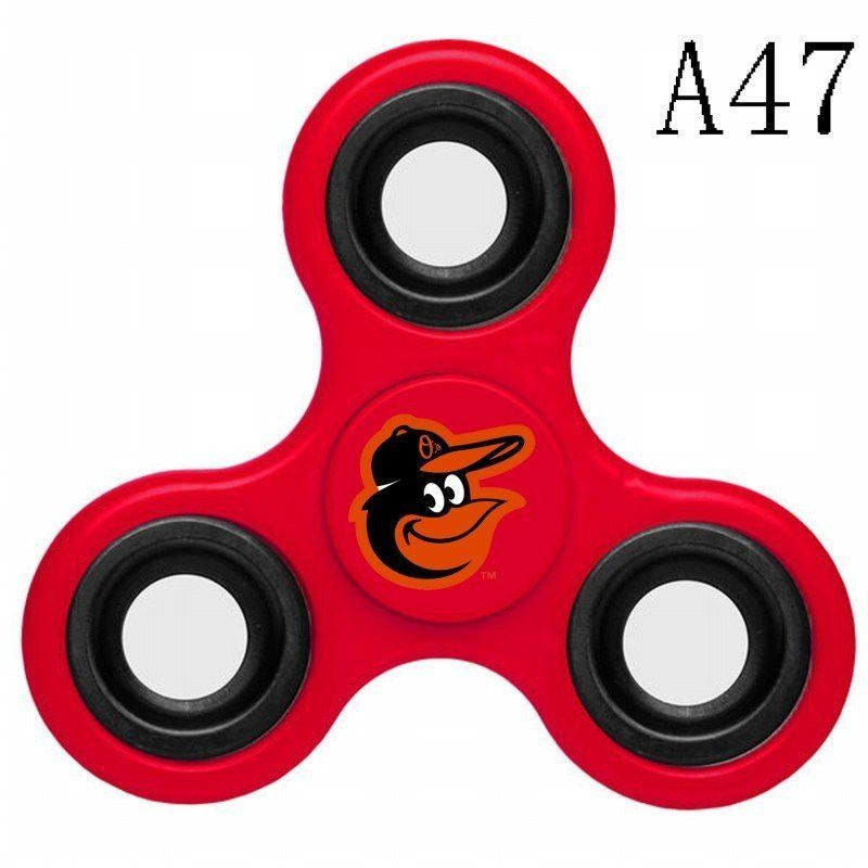 M048 Baltimore Orioles Red Black Blue White Grey Fid Spinner
