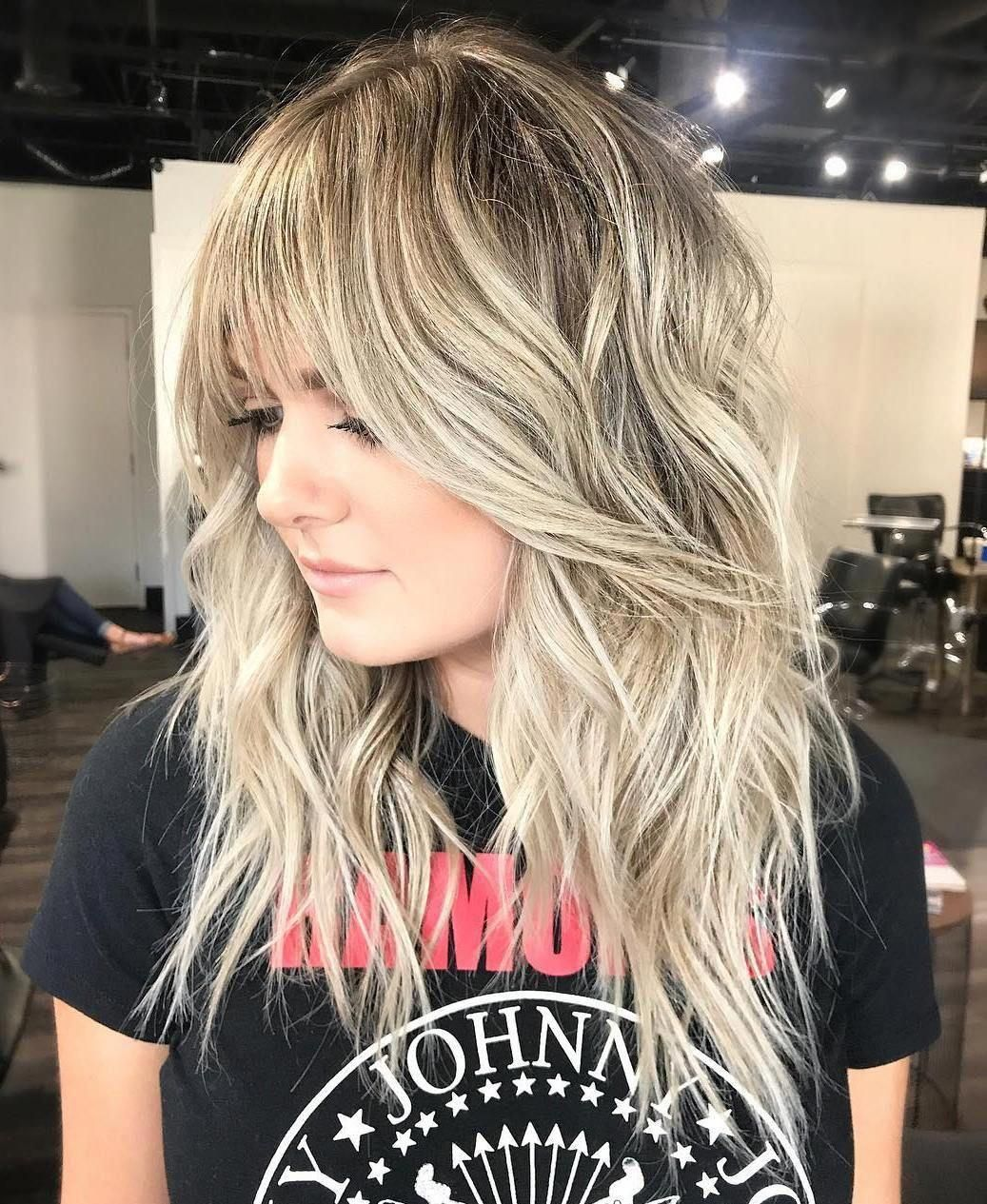 Beautiful Edgy Long Hairstyles Edgylonghairstyles Long Shag Haircut Modern Shag Haircut Blonde Hair With Bangs