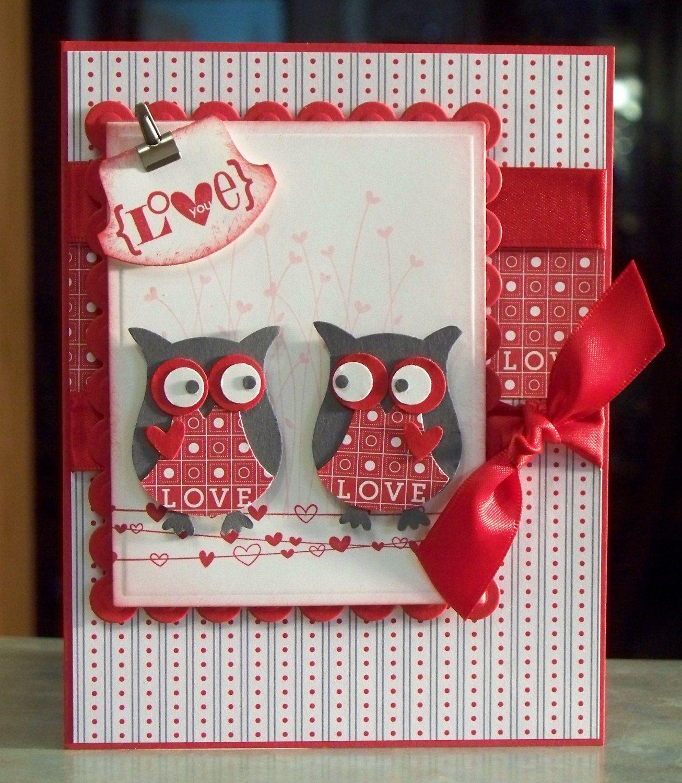 Handmade Valentines Day or Anniversary Card Stampin Up Valentine – Cool Valentines Day Card Ideas