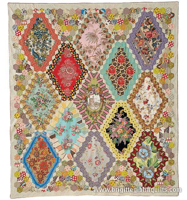 Quilts & purse patterns using hexagons, clamshell & English ... : hexagon quilt kit - Adamdwight.com
