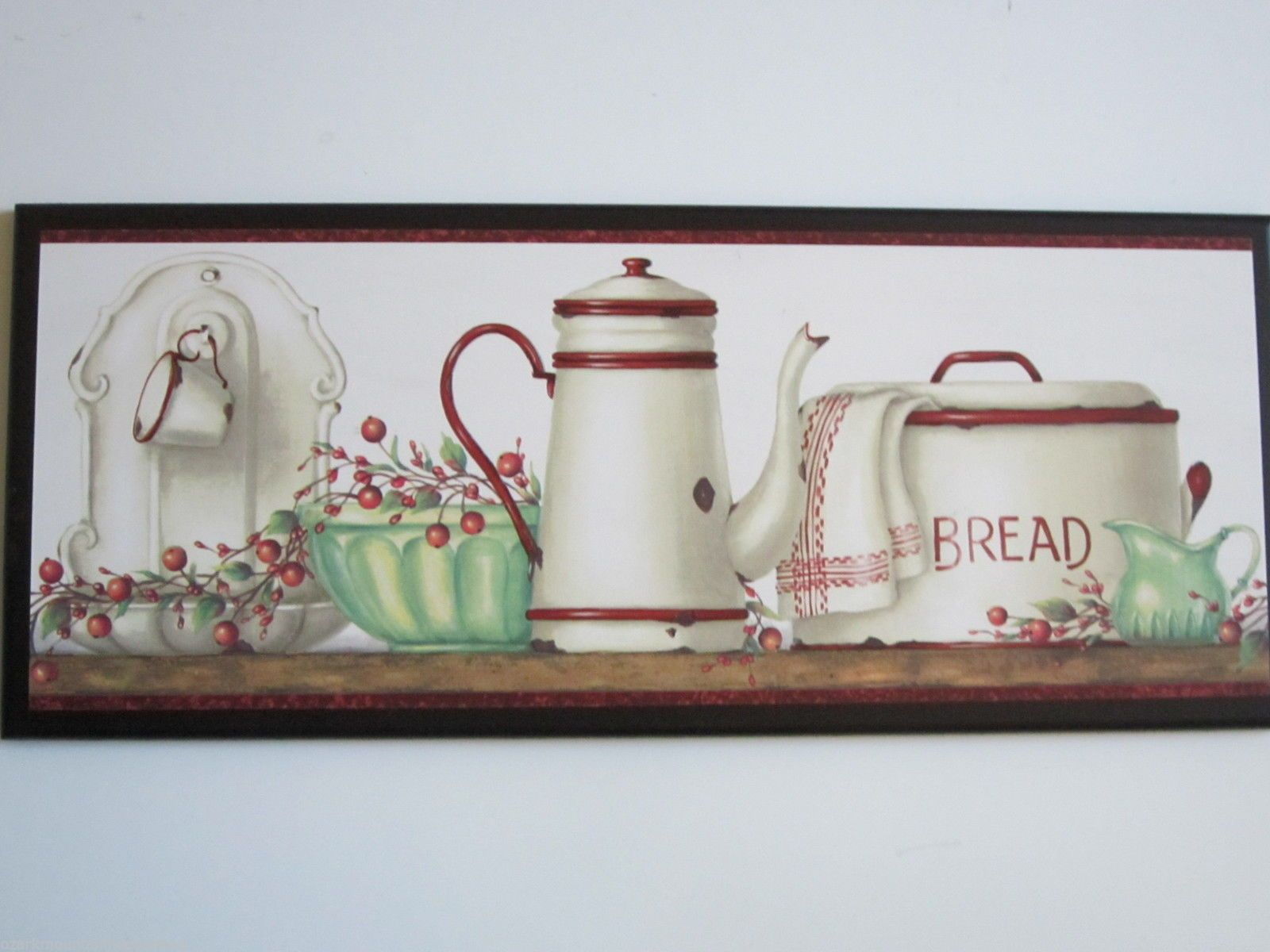 Vintage Enamel Kitchen Sign
