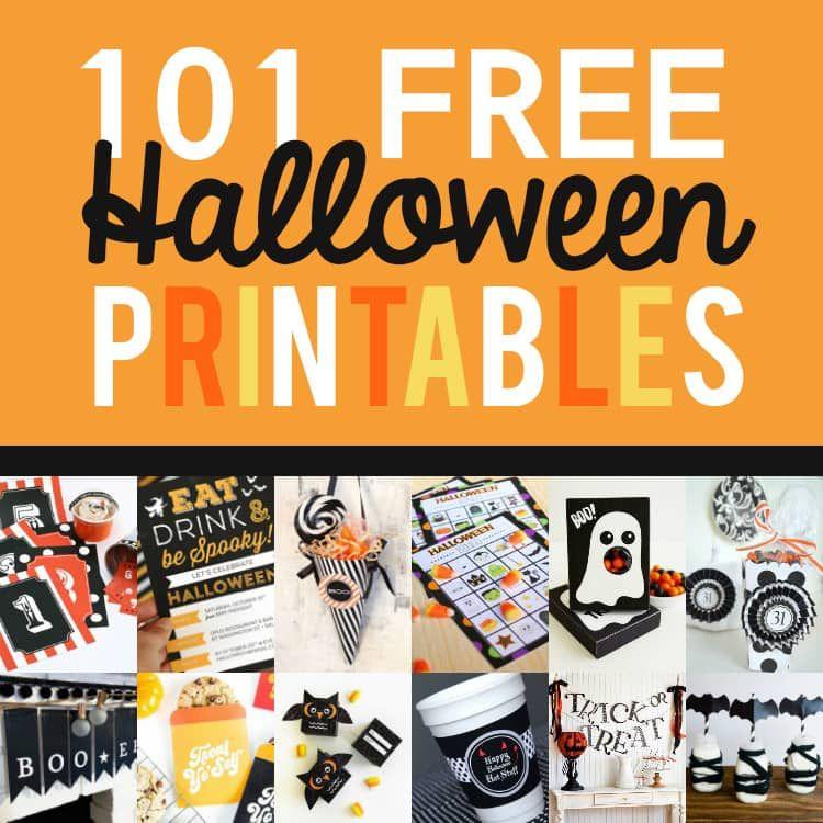 101 FREE Halloween Printables Free halloween printables