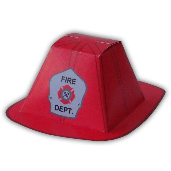 Cool Firefighter Helmet Gift Box Favor Party Printable Color Download Free Architecture Designs Scobabritishbridgeorg