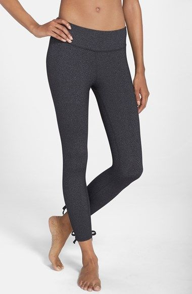 Beyond Yoga Tie Detail Heathered Leggings available at #Nordstrom