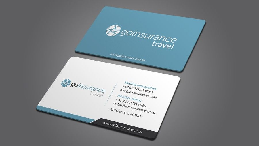 Travel Insurance Emergency Contact Card Design By I Am Back Business Card Design Minimal Contact Card Design Travel Insurance