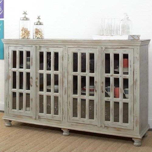 Room Largo Rustic Collectibles Sideboard With Glass Doors