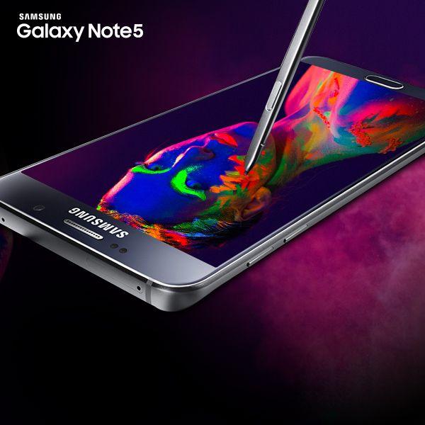 Pantalla Super AMOLED que permite visualizar fotos y videos de alta definición y gran contraste. #GalaxyNote5