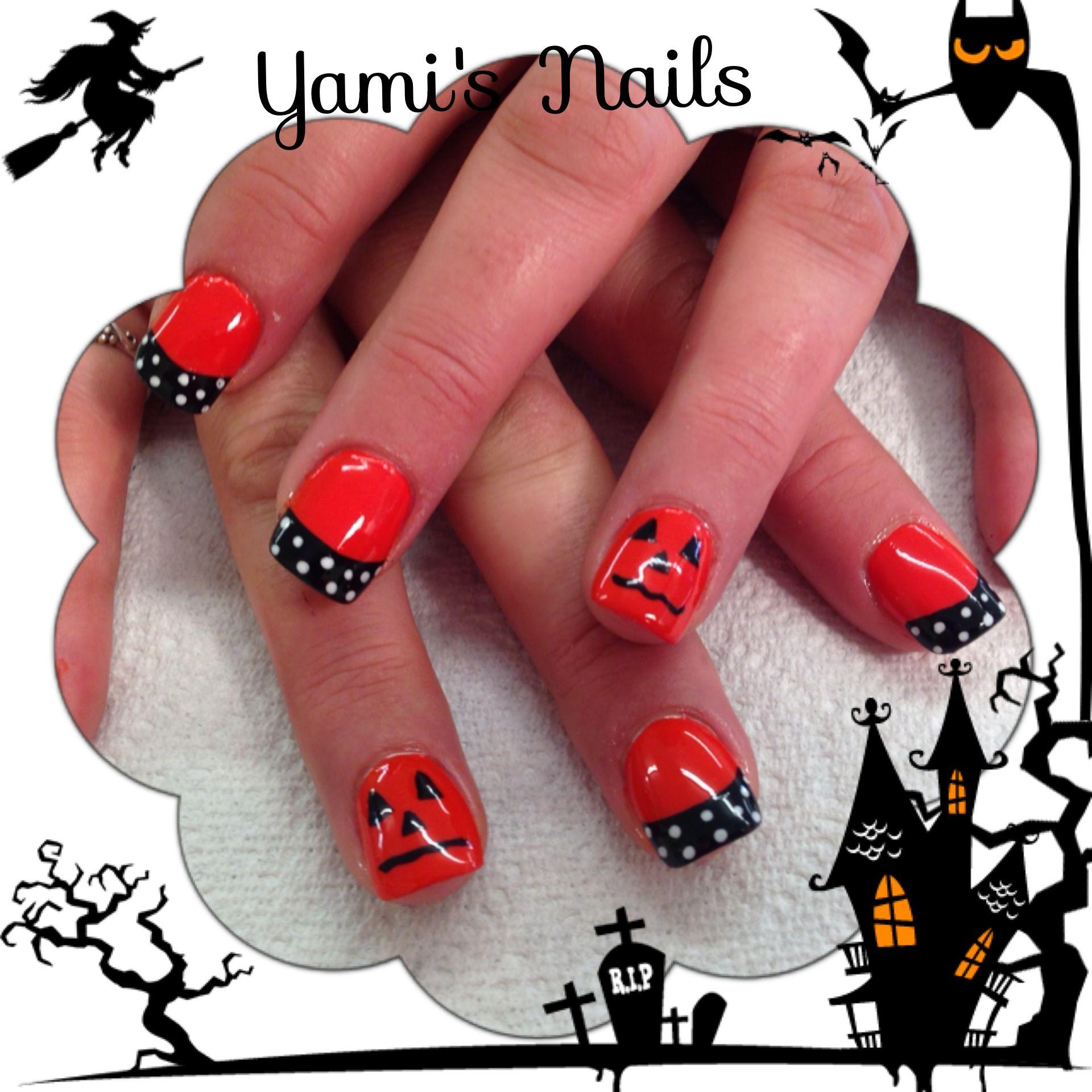 Halloween nail art shellac | Nails | Pinterest | Shellac nail art ...