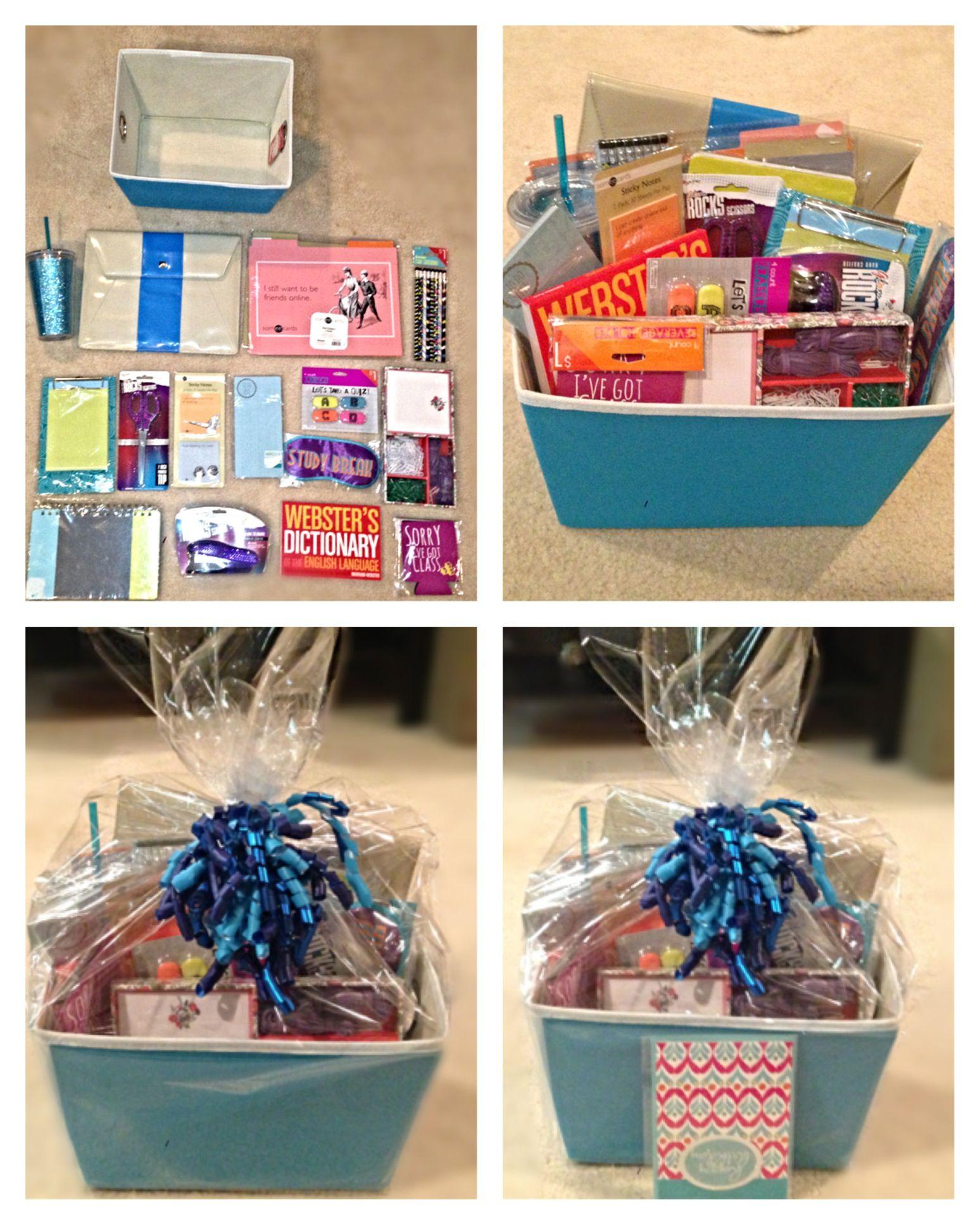 Graduation gift basket tablet pouch ecard folders