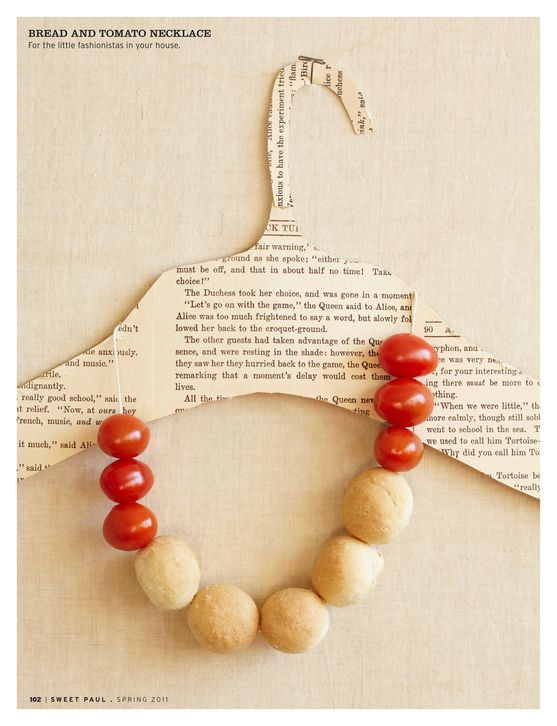 Bread and Tomato necklace
