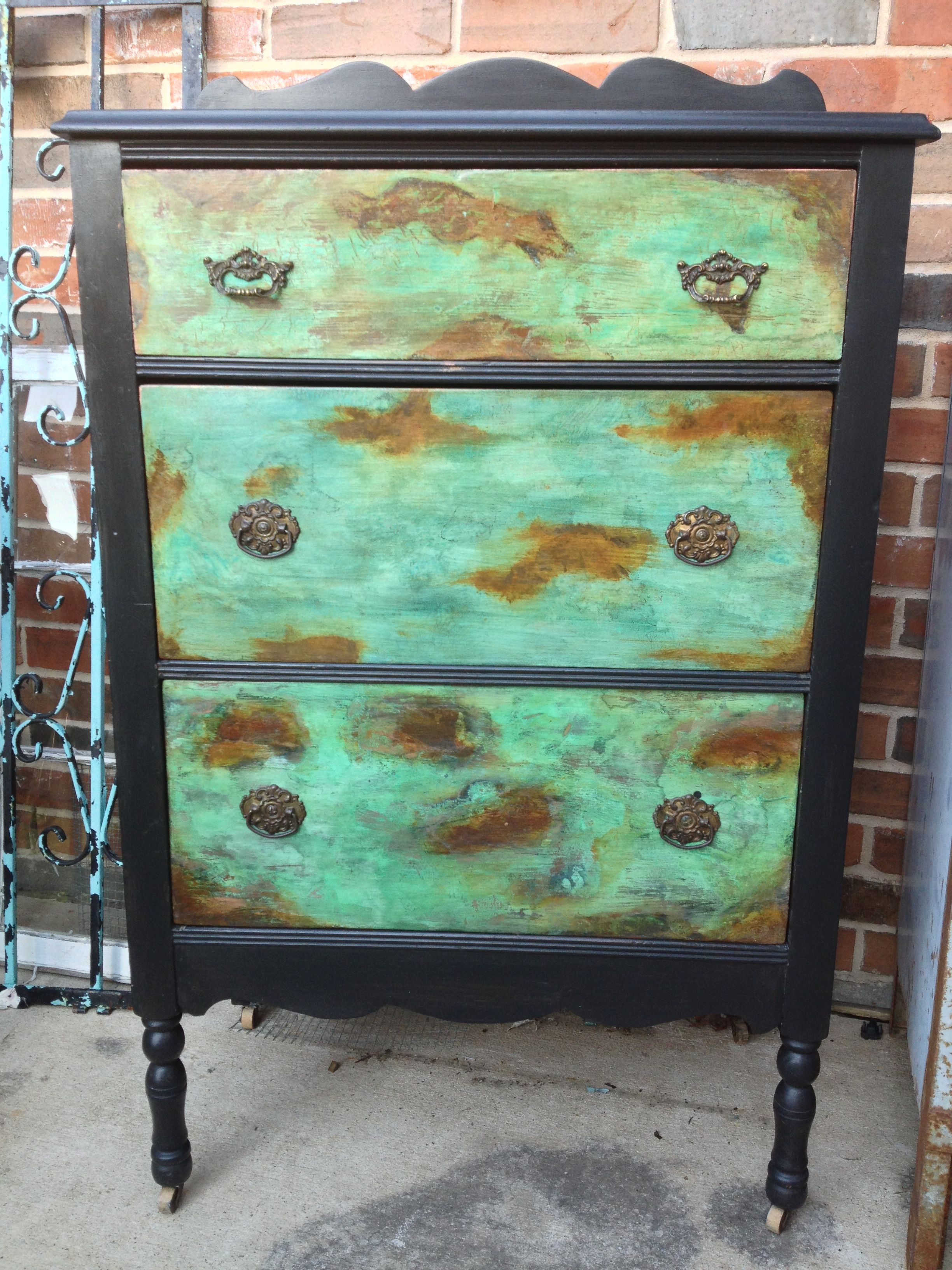 Antique Dresser Painted With Modern