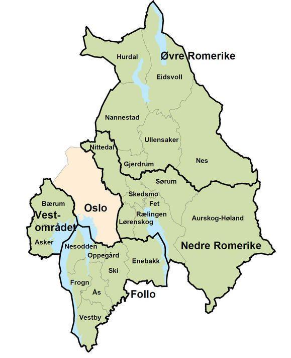 Kommunekart med mange detaljer