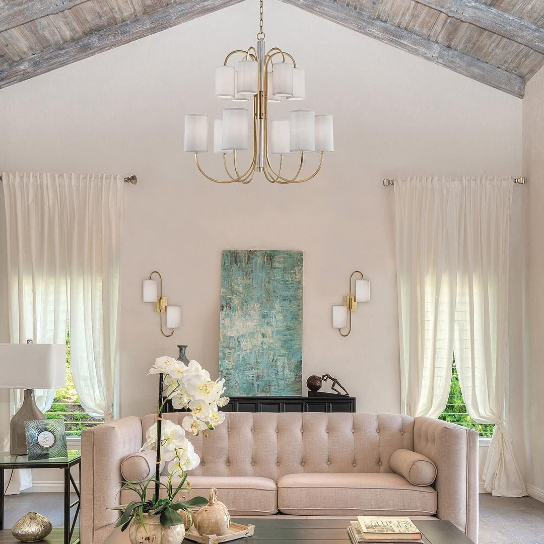 A fresh take on a classic chandelier junius by hudson valley