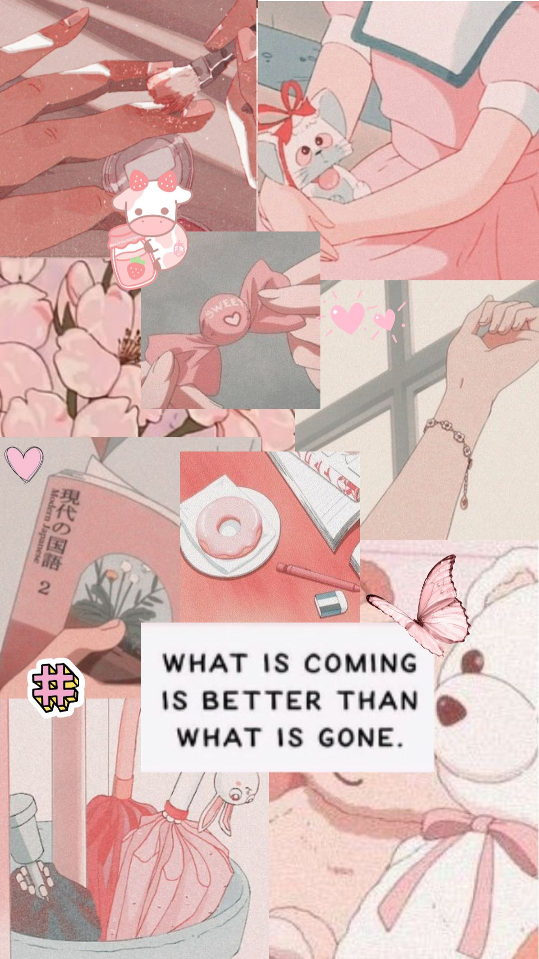 Pink Anime Aesthetic Collage Wallpaper Pink Anime Aesthetic Aesthetic Collage Wallpaper Pink Anime Cute anime wallpaper collage
