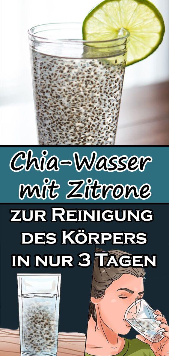 Photo of Chia-Wasser mit Zitrone zur Beseitigung von angesammeltem Fett und zur Reinigung des Körpers