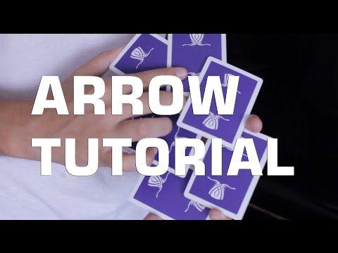 ARROW TUTORIAL - CARD FLOURISH - YouTube