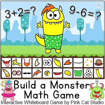 End Of The Year Activities Addition And Subtraction Math Game Smartboard Game My Best Selling Game Works With Math Games Pink Cat Studio Math Review Game