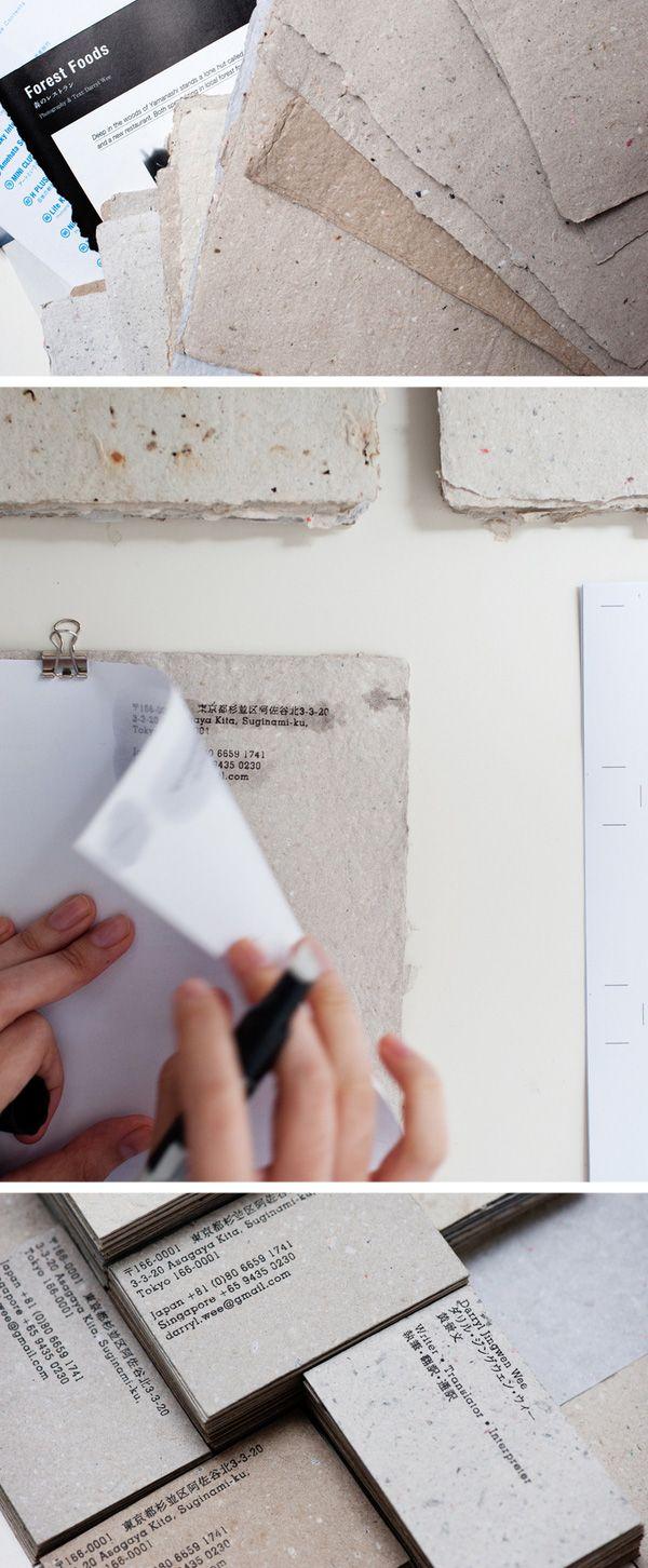 6 super easy ways to create handmade diy business cards recycle 6 super easy ways to create handmade diy business cards reheart Choice Image