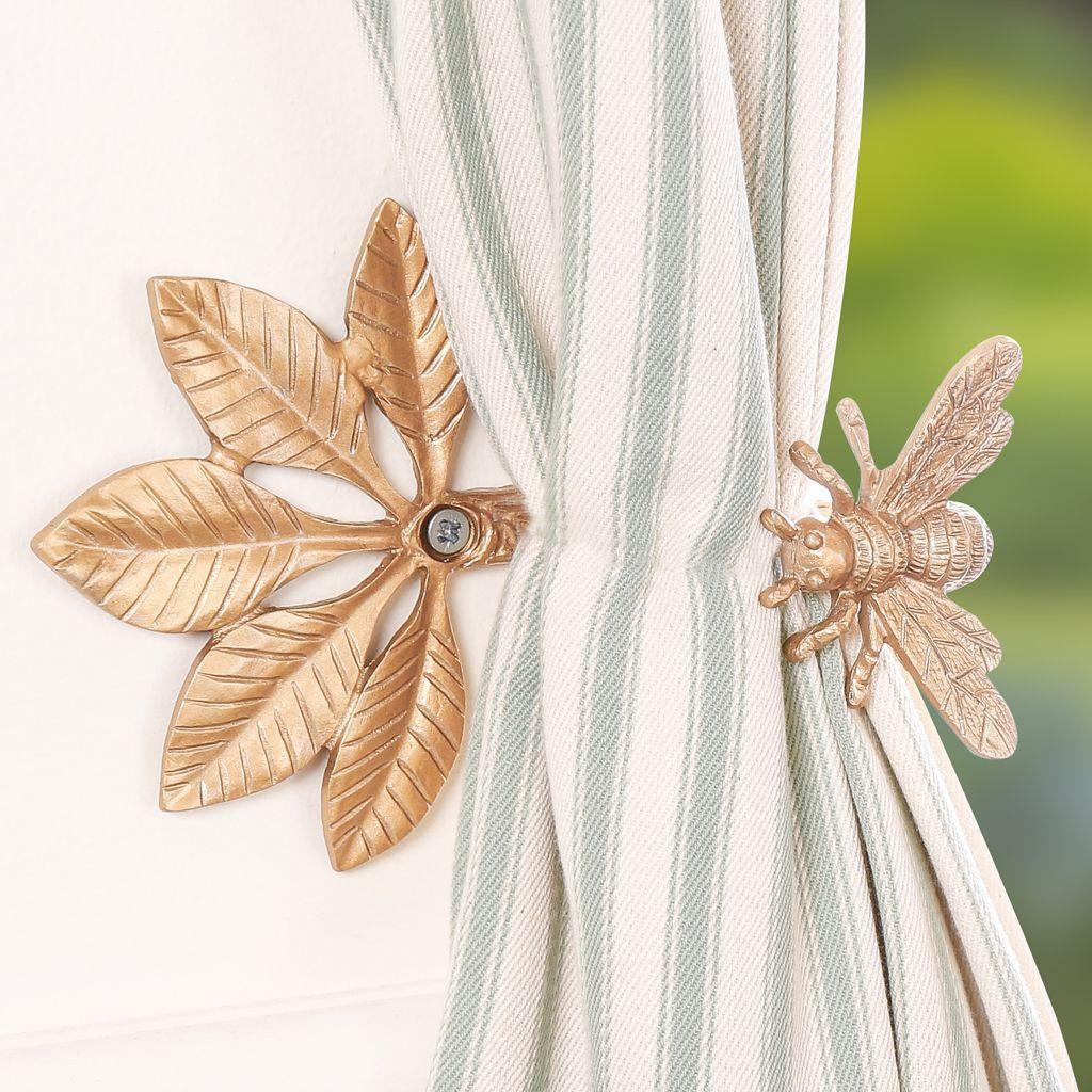 Gold Honey Bee Curtain Tieback Vintage Curtains Curtain Tie